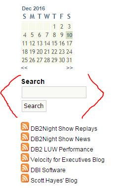 Look for this Search tool in the Right Column