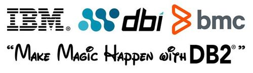 IBM DBI BMC logos - Make Magic Happen with DB2